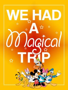 """We had a Magical Trip - Project Life Filler Card - Scrapbooking ~~~~~~~~~ Size: 3x4"""" @ 300 dpi. This card is **Personal use only - NOT for sale/resale** Clipart belongs to Disney. Fonts are Coolvetica www.dafont.com/coolvetica.font and GiddyupStd www.fontzone.net/font-details/giddyupstd ***"""