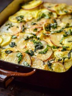 Vegetarian  - Low FODMAP & Gluten Free Recipe - Potato & zucchini gratin - http://www.ibscuro.com/potato_zucchini_gratin.html