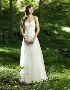 simple wedding dress for outdoor wedding (2)