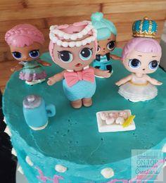 Spot the edible topper.   #lolsurprise #caketopper #edibleart #cakedecorating #kidsbirthdaycake #edibletopper #loldolls #kidscake #birthday #cake #ontopcreations