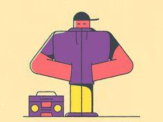 Good Music by BERG #Design Popular #Dribbble #shots Person Icon, Illusion Gif, Flat Design Illustration, Hip Hop Art, Cool Animations, Gifs, Motion Design, Motion Graphics, Cartoon Art