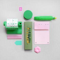 Pink & Green; like the calendar