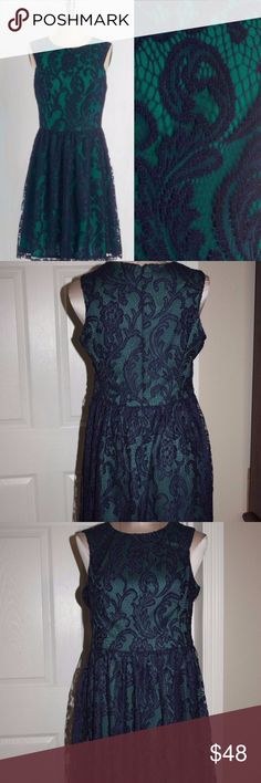 "Modcloth Illustrious Party Dress Lace Blue Ivy+Blu Up for sale Modcloth Illustrious Illustrator Party Dress Lace BLUE Teal Ivy + Blu   Size 10  Measurements: Bust/Underarm-17"" Waist-15 1/2"" Length-36 1/2""  MSRP$119  Item #15 Modcloth Dresses Midi"