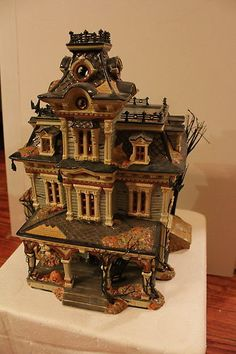 department 56 halloween grimsly manor haunted victorian mansion