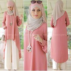 Hijab Style Dress, Casual Hijab Outfit, Hijab Chic, Modesty Fashion, Abaya Fashion, Fashion Dresses, Islamic Fashion, Muslim Fashion, Modele Hijab
