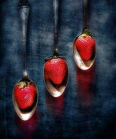 Strawberry spoons by Viacheslav Krass