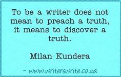 Quotable - Milan Kundera - Writers Write Creative Blog