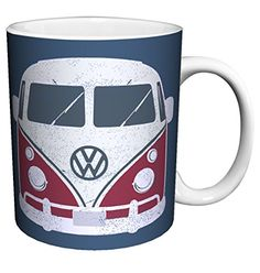 Volkswagen VW Camper Van Vintage Illustrated Car Art Porcelain Gift Coffee -Tea, Cocoa 11 Oz. Mug -- Hurry! Check out this great item
