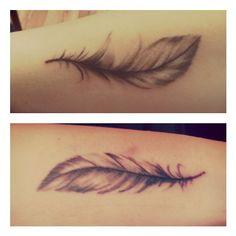 Feather tattoo - Instagram photo by @megan_abbie (MeganAbbie) | Iconosquare