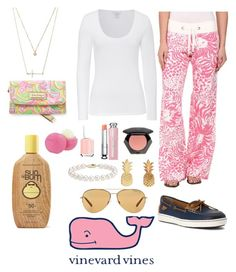 """A sweet remembrance"" by cece-h-celeste ❤ liked on Polyvore featuring Lilly Pulitzer, Majestic, Forever 21, Essie, Christian Dior, H&M, Blue Nile, Vinca, Michael Kors and Sun Bum"