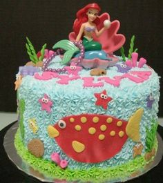 First Birthday Cake Recipes: Mermaid White Chocolate Cake RECIPE lindseyyyy