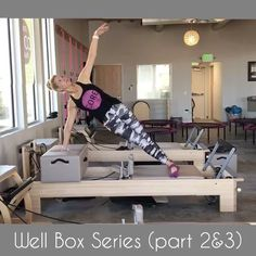 Here is the 2nd & 3rd portion the my Well Box Series. I do not like taking the box on and off more than once during a class so when I put it on I try and do as much as possible. Here I have fused a little mat work with the reformer. The nice thing about this series is it is not too difficult but stll very challenging. See my first video to see the entire series (slide to the left). Happy Saturday!