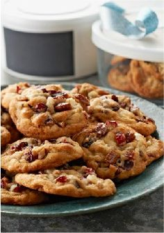 Big-Batch Kris Kringle Cookies – Kris Kringle, Santa, jolly ol' St. Nick…no matter what you call him, he is gonna love cookies studded with white chocolate, dried cranberries and pecans.