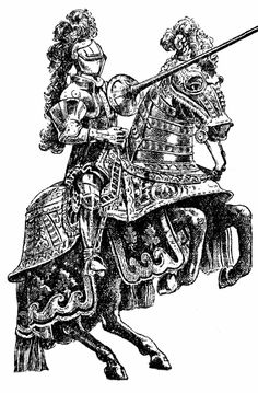 medieval knight for tattoo