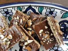 flatbread, honey, dark chocolate and almonds