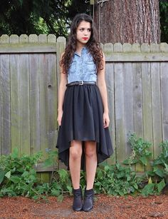 Top, Skirt, Boots