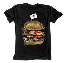 BROOKLYN PROJECTS X ROOK KING BURGER TEE Patty And Bun, Brooklyn, King, Tees, Projects, Mens Tops, T Shirt, Design, Art