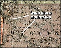 Map of the Wind River Range Mountains, I have hiked that same trail!