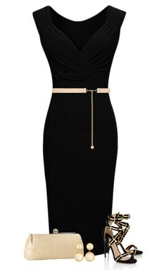 """LBD"" by cindycook10 ❤ liked on Polyvore featuring Paul Andrew, Forever New, Nina and Larkspur & Hawk"