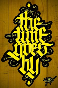 The time goes by by Irinel Papuc - TYPOMONGER, via Behance