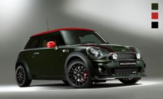 "MINI ""I want this version!"" MINI John Cooper Works WC50-2011 'CSR-Racing' edition. - Dark Army Green - Chili Red - Black (Photoshop retouche grafisch ontwerpbureau Designkwartier)"