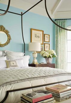 """House of Turquoise: Glave and Holmes Architecture  Wall color Wall color - Benjamin Moore """"Skyscraper"""" 765--maybe for hallway? Or living room? Or office/playroom?"""