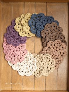 Ideas... Crochet coaster... No pattern