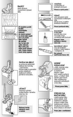 Patky do šicího stroje - přehled využití | ŠICÍ STROJE VERONICA Tutorials, Textiles, Singer, Sewing, Dressmaking, Couture, Singers, Stitching, Fabrics