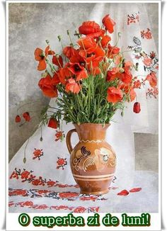 Poppy Bouquet, Flash, Still Life, Poppies, Glass Vase, Table Decorations, Prints, Painting, Furniture