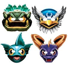 The kids will love to dress like their favorite video game character with one of these Skylanders Paper Masks! Includes 8 assorted paper masks in 4 different designs.Includes: (8) assorted paper masks