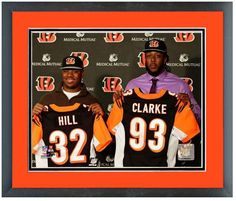 Jeremy Hill & Will Clarke 2014 Bengals Press Conference-11 x 14 Mat/Framed Photo