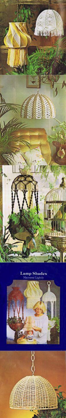 Vintage Macrame Patterns Hanging Lamps Mesh Lamp от Dazespast