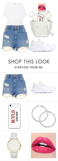 """""""thinking of summer"""" by anna-bigsis ❤ liked on Polyvore featuring River Island, NIKE, Laura Ashley and Vince"""