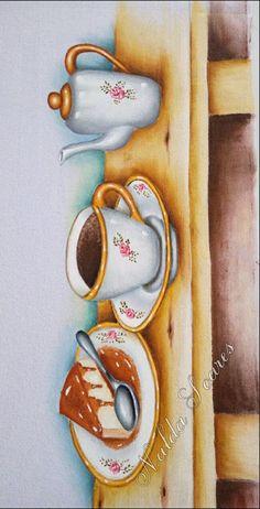 Dyi Crafts, Decoupage Paper, Mason Jar Crafts, Kitchen Art, Fabric Painting, Wood Art, Painted Rocks, Vintage Posters, Tea Party