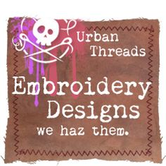 I keep meaning to order patterns from this company and I will! They have very creative and fun designs. Not your grandmother's embroidery patterns!