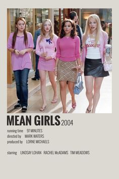 Alternative Minimalist Movie/Show Poster - Mean Girls - Polaroid Iconic Movie Posters, Minimal Movie Posters, Minimal Poster, Movie Poster Art, Iconic Movies, Poster Wall, Vintage Movie Posters, Disney Movie Posters, Poster Layout