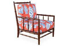 Cottonwood Chair, Red/Cobalt | One Kings Lane