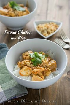 Peanut Chicken with Rice Recipe | Dinners, Dishes, and Desserts