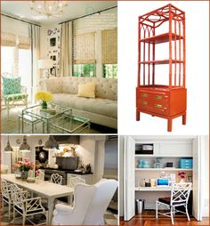 I love, love, love like yummy popsicles love...Bamboo furniture. Paint it high gloss white or a bright color and I'm in heaven.