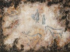 "Acrylmalerei - ""Höhlenmalerei Europa"" - Acrylbild - ... - ein Designerstück von Farbenfroh84 bei DaWanda"
