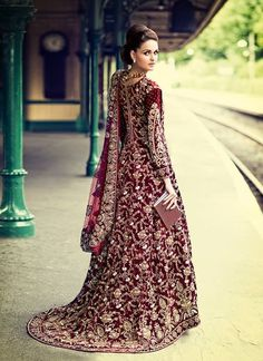 Cookiee Mak Long Shirt Lehnga and heavy Work Bridal dupatta for Party Wear | 2015