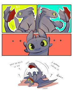 Best how to train your dragon funny art night fury Ideas Httyd Dragons, Dreamworks Dragons, Cute Dragons, Disney And Dreamworks, Toothless Dragon, Hiccup And Toothless, How To Train Dragon, How To Train Your, Cute Comics