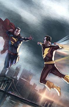 Superman VS Captain Marvel by ~benttibisson on deviantART