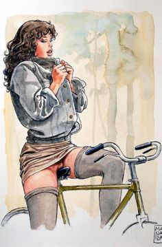 Art by Milo Manara - Bicycle Graphic Design