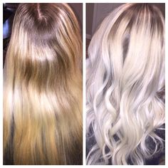 Platinum balayage shadow root