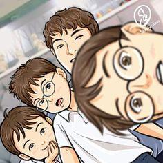 Manse: losing baby~teeth, adding eye~glasses ➿