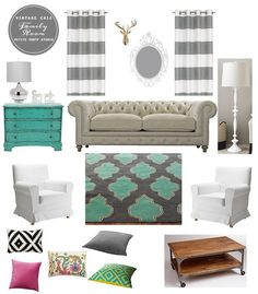Our popular Gold Fauxidermy Deer Head adds elegance to  Party Studio Rebecca & Shannon' family room.