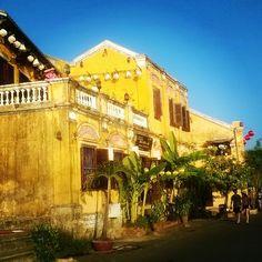 Colonial era architecture, Hoi An, Vietnam Hoi An, Old Town, Colonial, Vietnam, Architecture Design, Mansions, House Styles, Home Decor, Old City