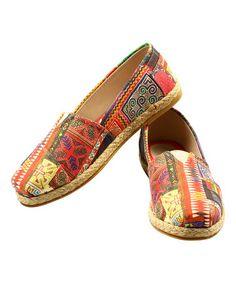 Look at this #zulilyfind! Red & Purple Slip-On Espadrille #zulilyfinds