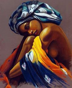 Super Ideas for black art painting Art Black Love, Black Girl Art, Art Girl, Black Art Painting, Black Artwork, Woman Painting, African Beauty, African Women, African American Artwork
